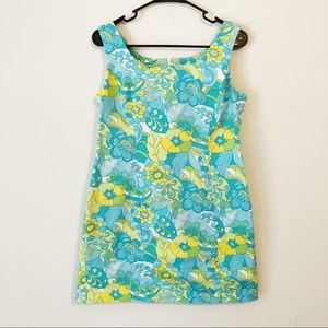 Psychedelic Floral 70s Mini Dress   size 10p